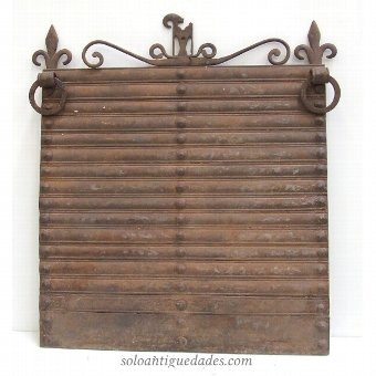 Antique Firewall decorated with undulations