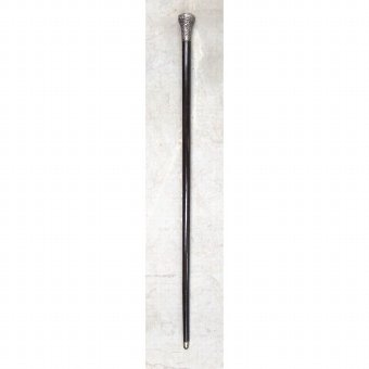 Antique Cane with carved silver handle