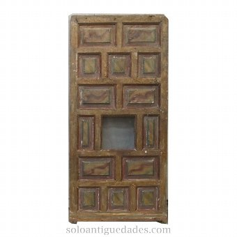 Antique Old confessional door polychrome