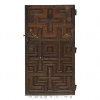 Antique Door with white polychrome party