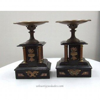 Antique Couple metal Orchard
