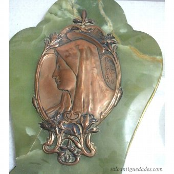 Antique Benditera onyx with portrait of the Virgin