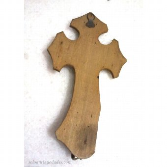 Antique Benditera wooden cross