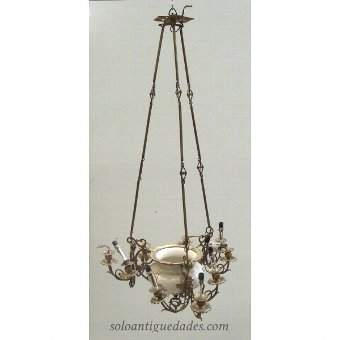 Antique Neoclassical chandelier lamp