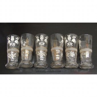Antique Cups decorated with gold trim