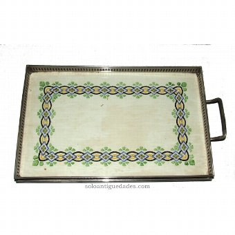 Antique Tray decorated with geometric