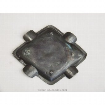 Antique Metal bowl with rhomboid shape