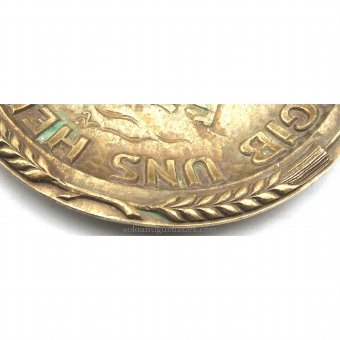 Antique Bronze tray with a circular
