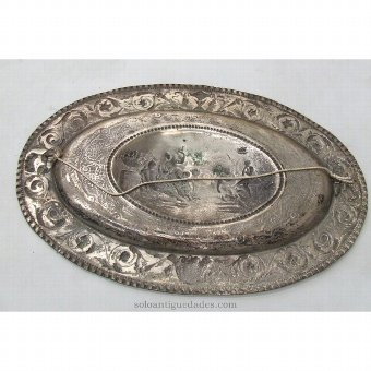 Antique Tray with raised garden