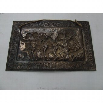 Antique Brass tray with cherubs