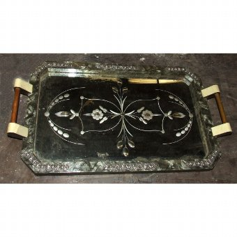 Antique Glass tray with vegetable