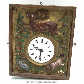 Antique Black Forest Clock type. Wooden case