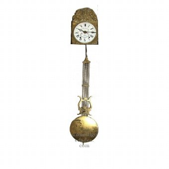 Antique Watch Type Morez. Sphere with enameled flowers