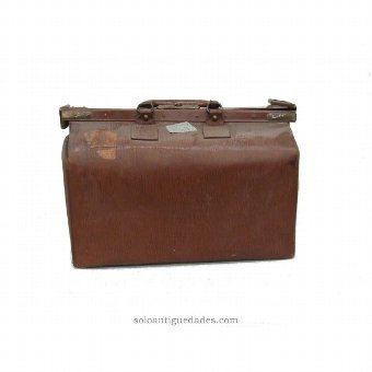 Antique Suitcase. Transatlantic Company Agency Havana