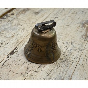 Antique Bell decorated with floral motifs and a cross trefoil