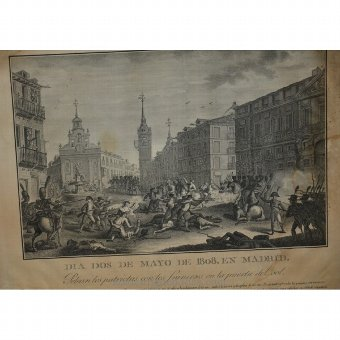 Antique Etching episode of the War of Independence