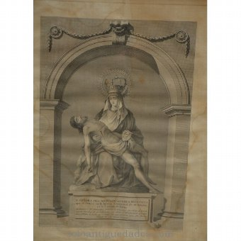 "Antique Engraving ""Nestra Old Market Lady of the Way"""