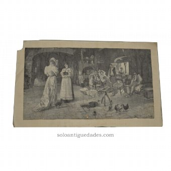 Antique Etching signed by Augusto Corelli