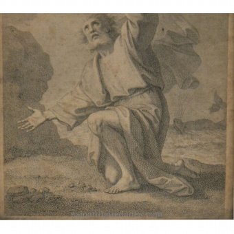 Antique Bible character Engraving