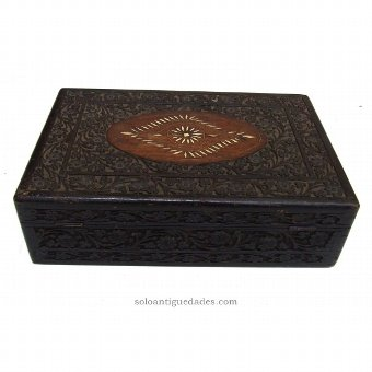 Antique Box carved with vegetal decoration