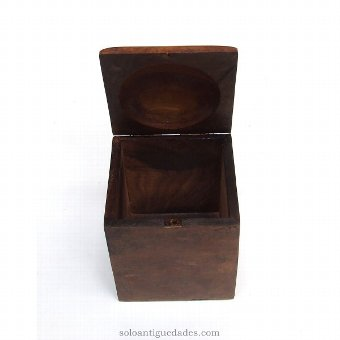 Antique Old wooden box for coffee