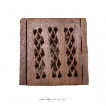 Antique Box collection with geometric openwork