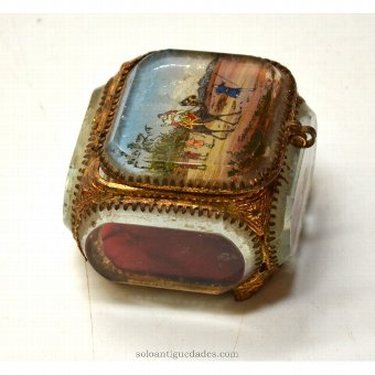 Antique Collection box with desert landscape
