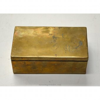 Antique Small gilt metal box