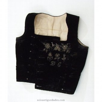 Antique Regional vest embroidered