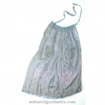 Antique Silk apron