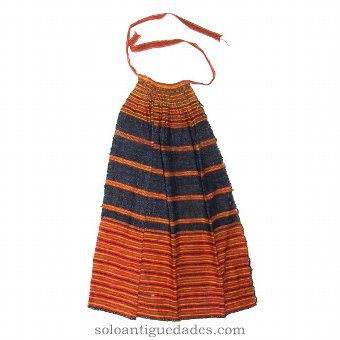 Antique Beautiful apron with colored stripes