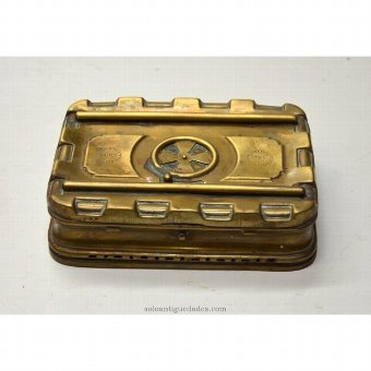 Antique Golden metal box made in Lyon