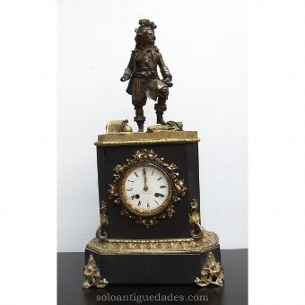 Antique German clock with male figure