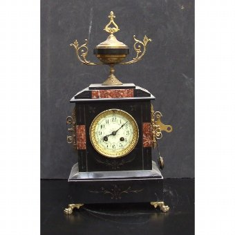 Antique Watch French slate and marble