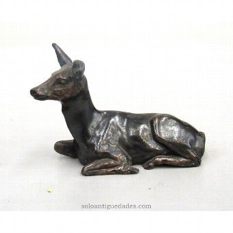 Antique Bronze sculpture doe