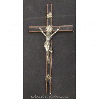 Antique Crucifix crafted of two-tone