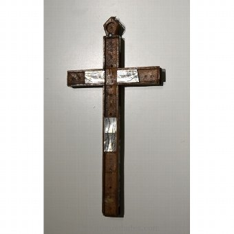 Antique Calvary Crucifix with stations
