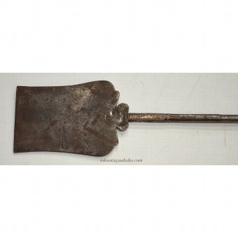 Antique Kitchen shovel with straight blade oval and trapezoidal