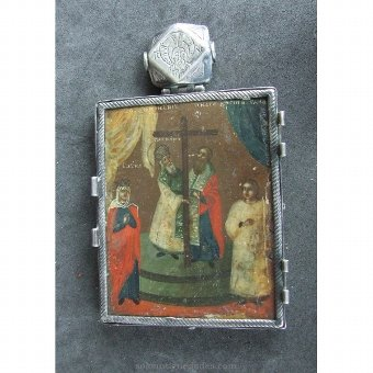 Antique Medallion locket type. With Virgin and Apostles
