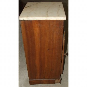 Antique Nightstand with marble mantel