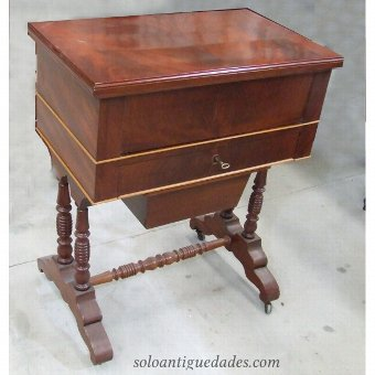 Antique Old wooden nightstand