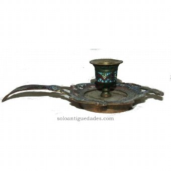 Antique Candlestick decorated with plant motifs