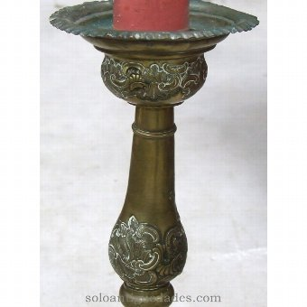 Antique Candle decorated with reliefs