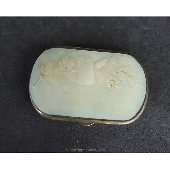 Antique Carved mother of pearl Portfolio