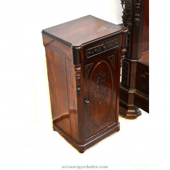 Antique Nightstand with rococo decoration