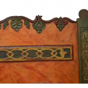 Antique Old painted wood headboard