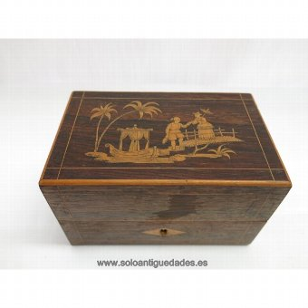 Antique Box Eastern court scene collection