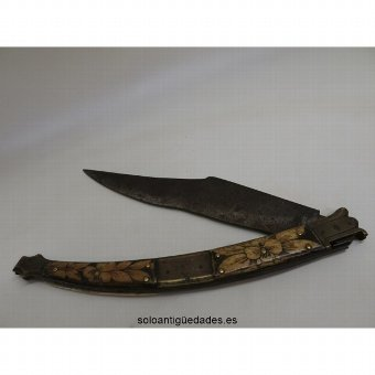 Antique Bone and bronze knife