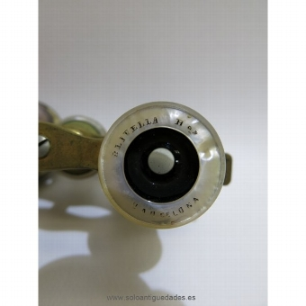 Antique Binoculars metal and mother of pearl