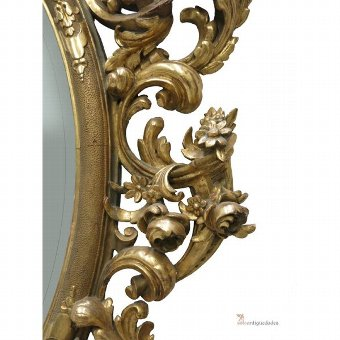 Antique 18th Century baroque mirror